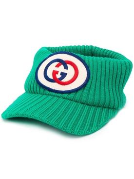 logo knitted visor EMERALD