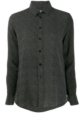 heart print button down shirt
