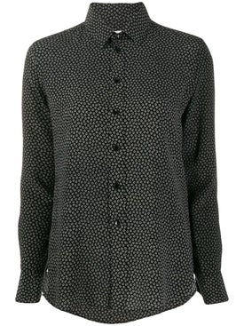 Saint Laurent - Heart Print Button Down Shirt - Women