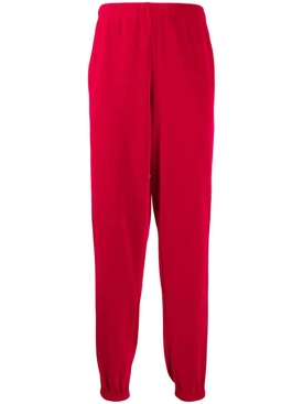 Loose chenille jogging pant RED