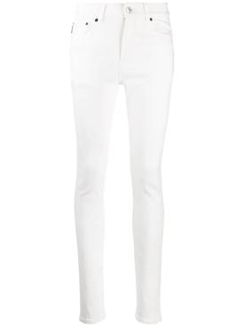 stonewash white skinny jean