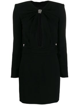 Saint Laurent - Embellished Cut Out Mini Cocktail Dress - Mini