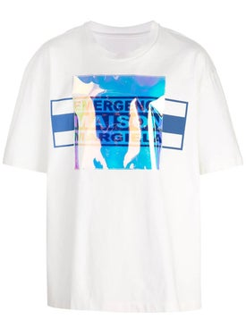 Maison Margiela - Holographic Patch Logo T-shirt - Men