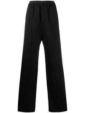 Logo elastic waistband trousers