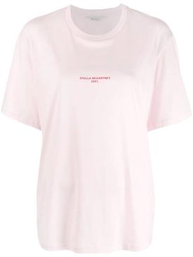 2001 stamped logo T-shirt PINK