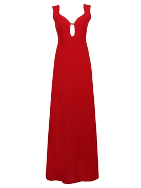 Red Keyhole Gown