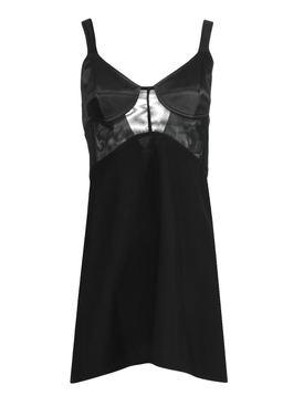 Black Sheer Insert Cami Dress