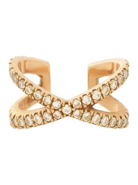 18k yellow gold X Ear cuff