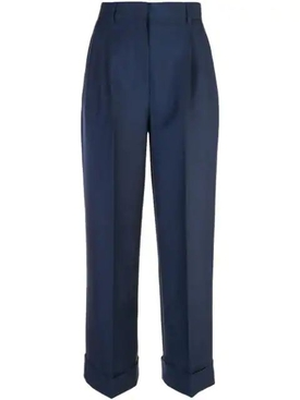 High waist mohair pleated trousers