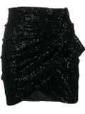 Saint Laurent - Sequinned Draped Mini Skirt - Women