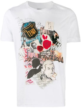 Fendi - Karl Kollage White T-shirt - Men