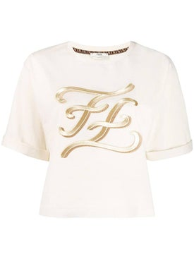 Fendi - Karligraphy T-shirt Off-white - Women