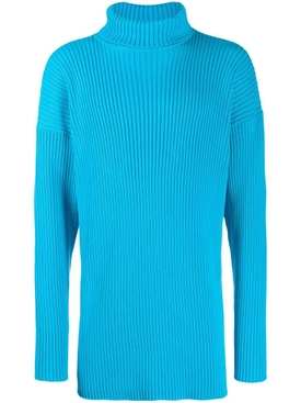 ribbed turtleneck sweater TURQUOISE