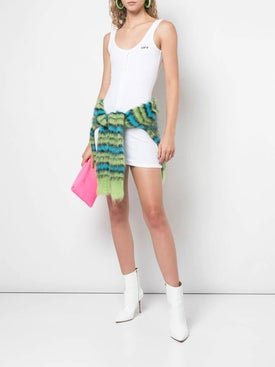 Off-white - Buttoned Mini Dress - Women