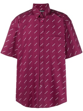 Balenciaga - Allover Logo Print Shirt - Men