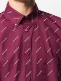 Balenciaga - Allover Logo Print Shirt - Men