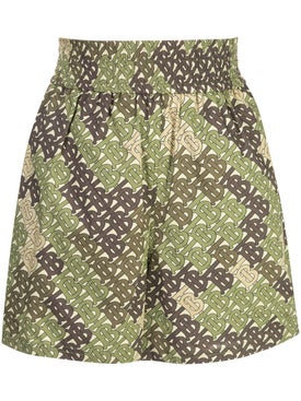 Burberry - Monogram Print Poplin Shorts - Women