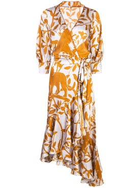 Johanna Ortiz - The Journal Of A Traveler Wrap Dress - Women