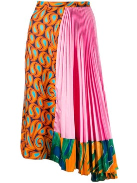 Marni - Asymmetric Multi Print Skirt - Women