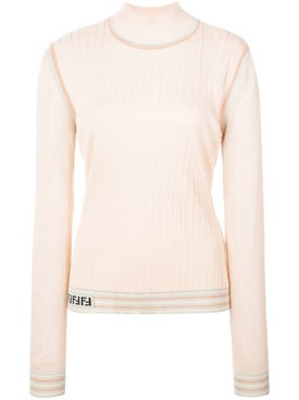 Fendi - Silk Ribbed Turtle Neck Jumper - Women