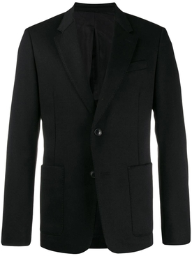 Single breasted blazer jacket BLACK