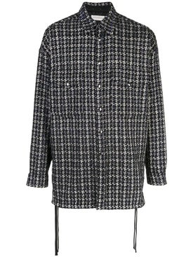 Faith Connexion - Oversized Houndstooth Pattern Shirt - Overshirts