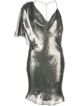 Cushnie - Metallic Asymmetric Party Dress - Women