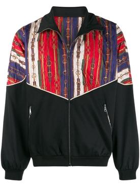 Oversize bi-material jacket BLACK