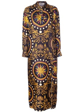 Fausto Puglisi - Solar Symbol Silk Dress - Women