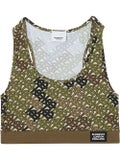 Burberry - Monogram Print Stretch Jersey Bra Top - Women