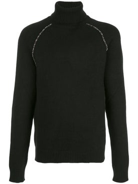 Alanui - Cactus Elbow Patch Cashmere Sweater Black - Men