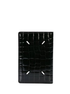 Maison Margiela - Croc Embossed Leather Wallet - Men