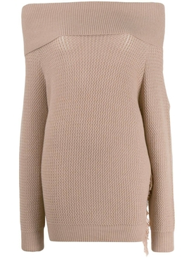 off-the-shoulder sweater NEUTRAL