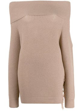 Stella Mccartney - Off-the-shoulder Sweater Neutral - Women