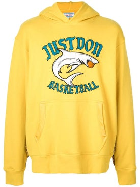 Just Don - Yellow Shark Basketball Hoodie - Men