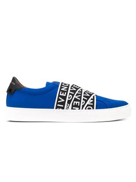 Givenchy - Contrasting Logo Tape Sneakers Blue - Low Tops