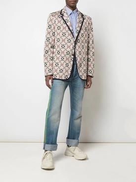 Geomatric GG print blazer