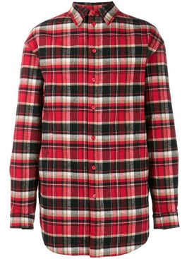 Balenciaga - Checked Flannel Padded Shirt - Men