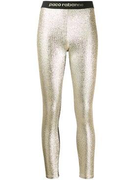 Paco Rabanne - Metallic Leggings - Women