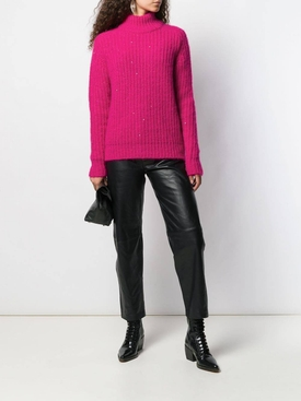 sequinned turtleneck sweater