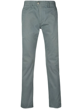 blue slim-fit pants