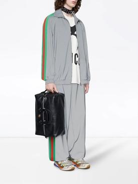 grey reflectiv side stripe track jacket