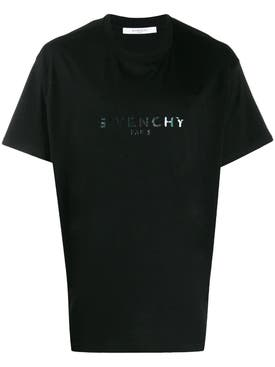 Givenchy - Green Iridescent Logo Print T-shirt - Men