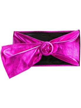 Attico - Leather Metallic Waist Belt Fuschia - Women