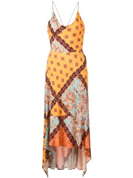 Esteban Cortazar - Multiprint Paisley Print Dress - Women