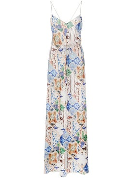 Esteban Cortazar - Tile Print Maxi Dress - Women