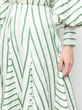 Rosie Assoulin - Green And White Flouncy Skirt - Women