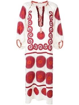 Vita Kin - Siam Red And White Midi Dress - Women