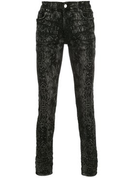 Amiri - Grey And Black Laser Python Stack Jean - Men