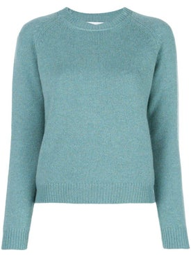 Alexandra Golovanoff - Ribbed Crew-neck Cashmere Sweater Green - Women